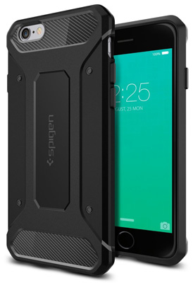 5. iPhone 6S Case, Spigen® [Rugged Armor] Resilient [Black] Ultimate protection and rugged design with matte finish for iPhone 6S (2018) - Black (SGP11597)