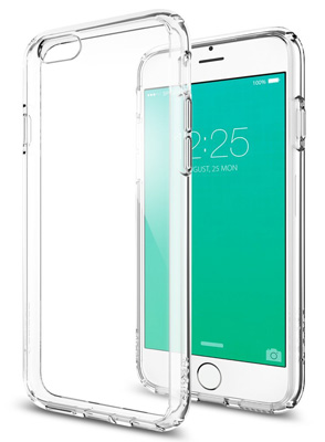 4. iPhone 6S Case, Spigen® [Ultra Hybrid] AIR CUSHION [Crystal Clear] Clear back panel + TPU bumper for iPhone 6 (2014) / 6S (2018) - Crystal Clear (SGP11598)
