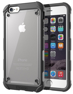 2. iPhone 6S Case - Poetic [Affinity Series] Apple iPhone 6S Case - [TPU Grip Bumper] [Corner Protection] Protective Hybrid Case for Apple iPhone 6S (2018) Black (3 Year Manufacturer Warranty by Poetic)