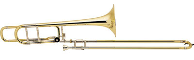 6. Bach 42BO Stradivarius Series F-Attachment Trombone Lacquer Yellow Brass Bell Standard Slide