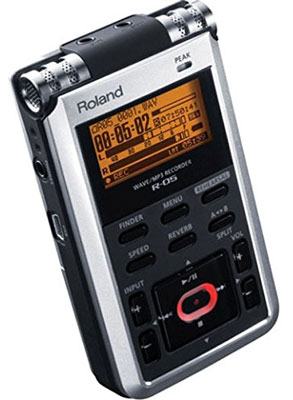 10. Roland R-05 Studio WAVE/MP3 Recorder, Best Portable Digital Audio Recorder Reviews