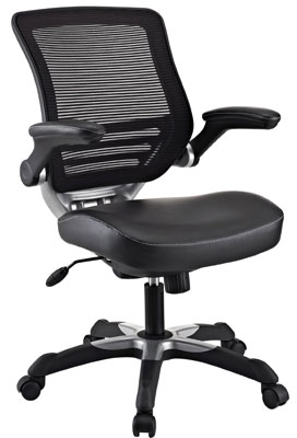 3. LexMod Edge EEI-595Office Chair with Mesh Back and Leatherette Seat