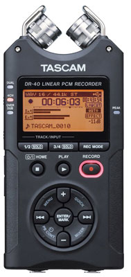 1. TASCAM DR-40 4-Track Portable Digital Recorder