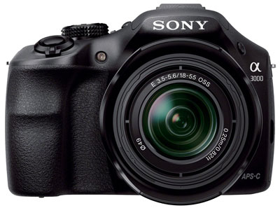 8. Sony A3000 Mirrorless Digital Camera with 18-55mm Lens