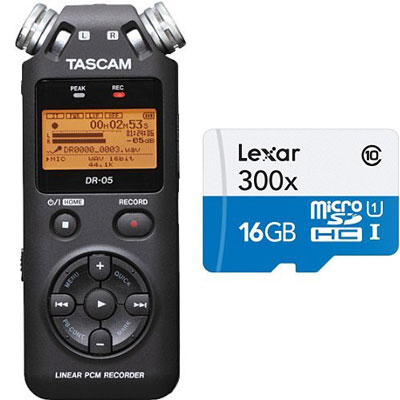 5. TASCAM DR-05 Portable Digital Recorder