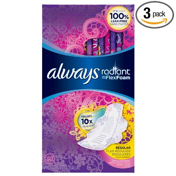 13. Always Radiant Regular Pads with Wings