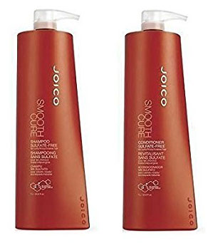5. Joico Smooth Cure Shampoo & Conditioner For Curly Frizzy Coarse Hair Sulfate Free 33.8 oz