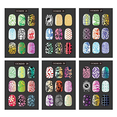 Ici Sisi Nail Art Stamp Collection Set Jumbo 5 New Pink 2019