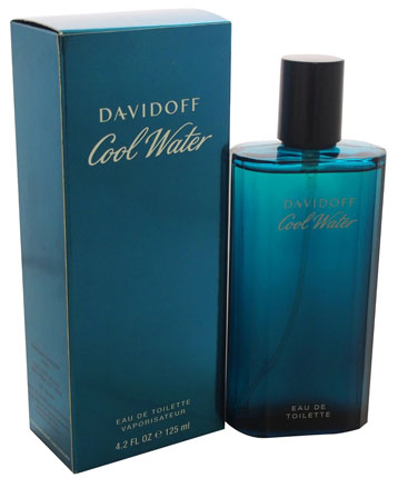 7. Cool Water By Davidoff For Men. Eau De Toilette Spray 4.2 Ounces