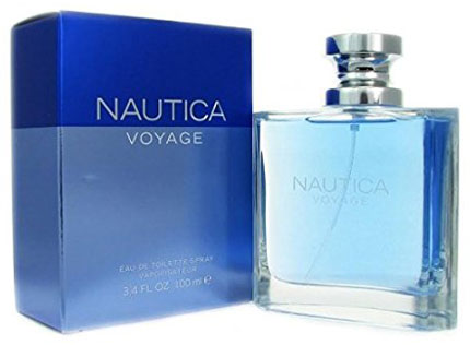 1. Nautica Voyage By Nautica For Men. Eau De Toilette Spray 3.4 oz