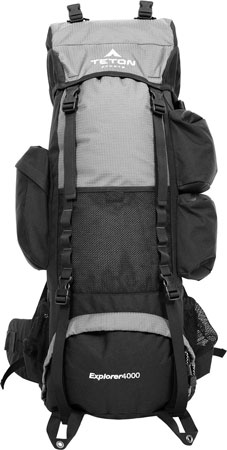3. TETON Sports Explorer 4000 Internal Frame Backpack; Free Rain Cover Included