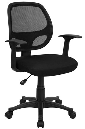 2. MidBack Black Mesh Office Chair