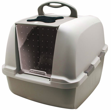7. The Catit Jumbo Hooded Cat Litter Box