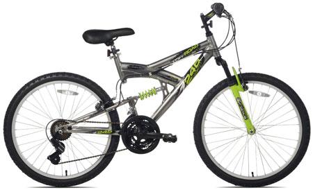 6. Northwoods Aluminum Full Suspension Mountain Bike: