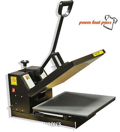 2. PowerPress Industrial-Quality Digital 15-by-15-Inch Sublimation T-Shirt Heat Press, Black