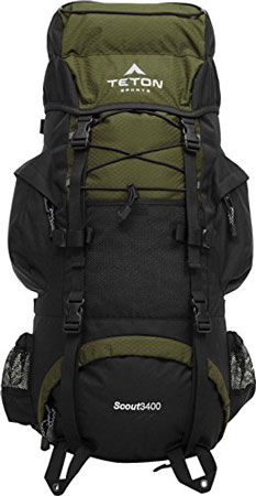 9. TETON Sports Scout 3400 Internal Frame Backpack; Free Rain Cover Included