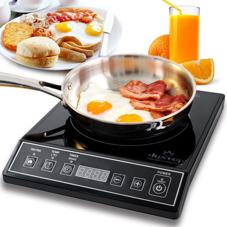 2. Secura 9100MC 1800W Portable Induction Cooktop Countertop Burner, Black