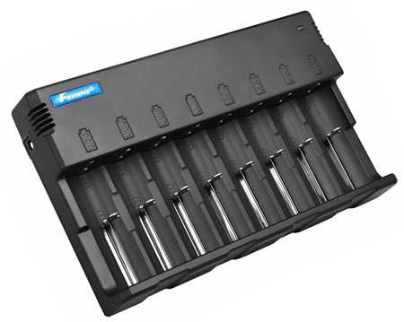 9. Foxnovo F08 8-Slots Battery Charger