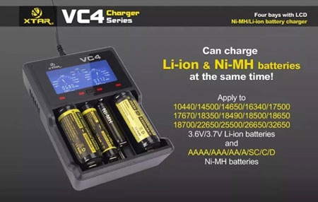 4. The XTAR VC4 charger