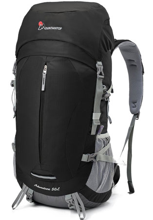 2. Mountaintop 50L Hiking Backpack Internal Frame Backpack for Outdoor Hiking Travel Climbing