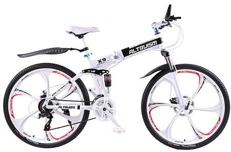 10. Altruism X9 Aluminum Folding Mountain Bike: