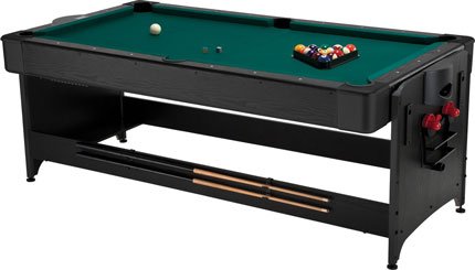 9. Fat Cat Original 3-in-1, 7-Foot Pockey Game Table (Billiards, Air Hockey, and Table Tennis)