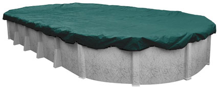 9. Robelle 391224-4 Supreme Plus Winter Cover for 12 by 24 Foot Oval Above-Ground Pools
