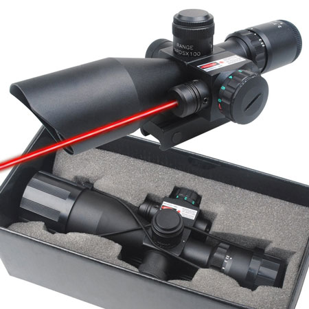 3. CVLIFE Optics Hunting Rifle Scope Red & Green Illuminated Crosshair Gun Scopes with Free Rail Mount