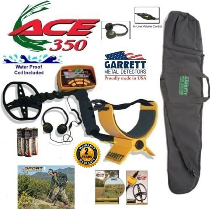 9. Garrett Ace 350 Metal Detector