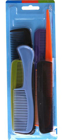 6. Goody - Hair Products Family Set of 6 Combs