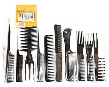 3. Magic 10 Piece Professional Styling Comb Set