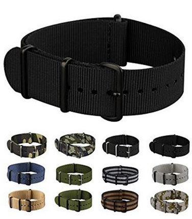 5. Infantry Nato Nylon Canvas Watch Strap Band