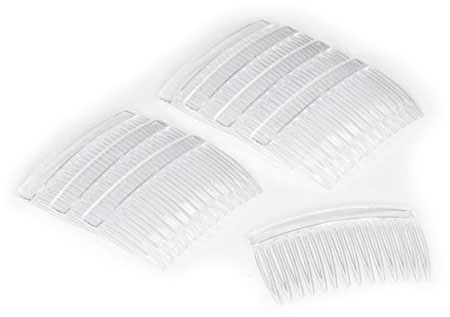1. Crystal Clear Multipurpose Hair Combs