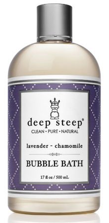 1. Deep Steep Bubble Bath Lavender Chamomile