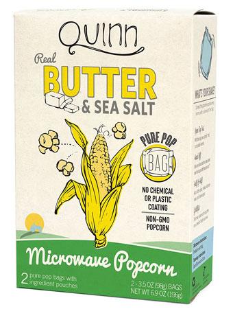 2. Quinn Popcorn Microwave Popcorn - Made with Organic Non-GMO Corn