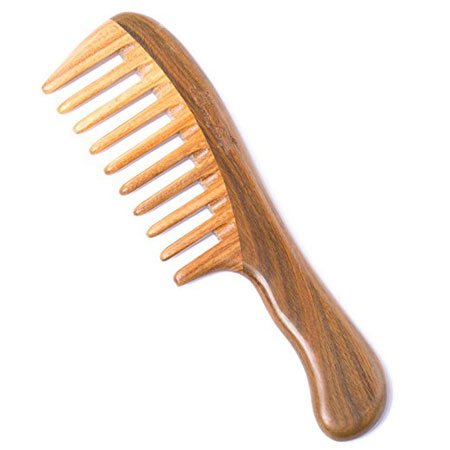 10. Breeze like Wooden Hair Comb with Premium Gift Box
