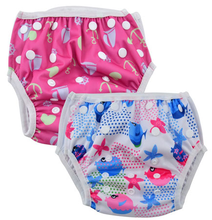 4. Alva Baby 2pcs Pack One Size Reuseable Washable Swim Diapers SW09-10