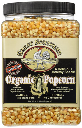 3. Great Northern Popcorn Organic Yellow Gourmet Popcorn All Natural