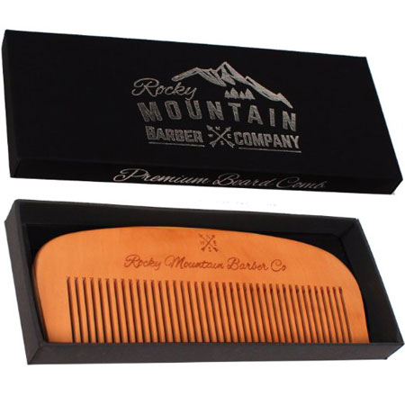 8. Hair Comb - Wood with Anti-Static & No Snag Handmade Brush for Beard