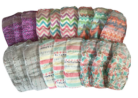 7. Honest Diapers for Girls Variety Pack Size 3