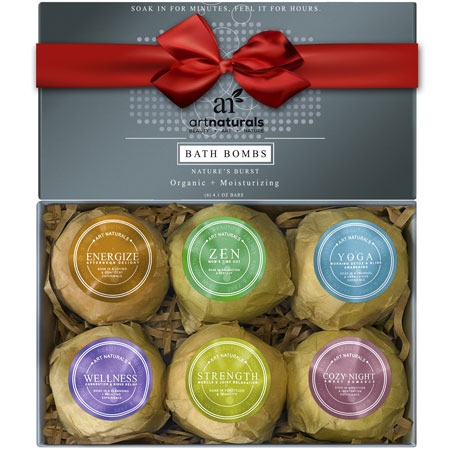 10. Art Naturals Bath Bombs Holiday Gift Set