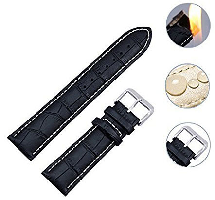 10. Zeiger Swiss Army Waterproof Interchangeable Leather Watch Bands