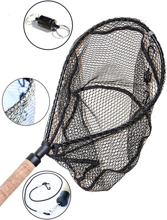 10. ActionSports Fishing Net - 4in1 - Rubber Coated Anti-Snag Netting
