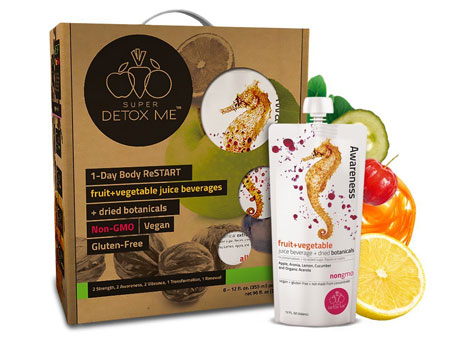 8. SUPER DETOX ME 1 Day Body ReSTART Juice Cleanse, Purify, and Debloat, 8 Juices