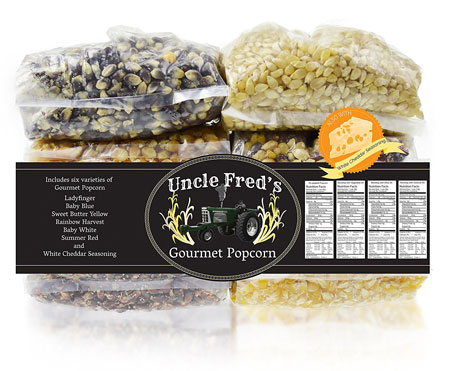 4. Gourmet Amish Popcorn Kernels With White Cheddar Seasoning Gift Set. Gourmet Popcorn