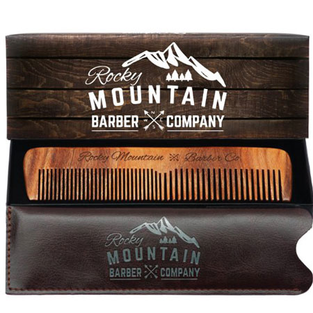 4. Hair Comb - Wood with Anti-Static & No Snag