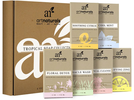 7. Art Naturals 6 Piece Soap Bar Set