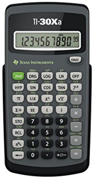 6. Texas Instruments TI-30Xa scientific calculator