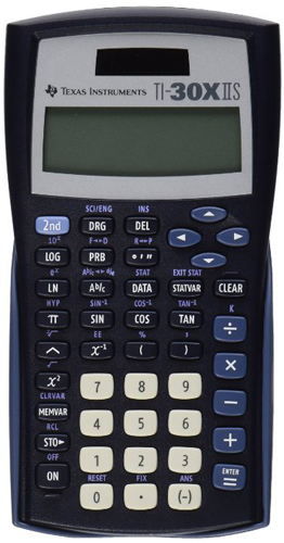 1. Texas instrumentsTI-30X IIS 2-line scientific calculator, black with blue accents
