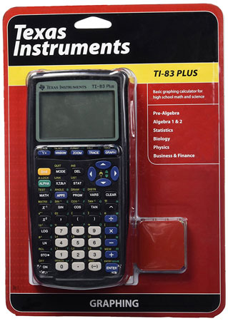 6. Texas Instruments TI-83 Plus Graphing Calculator.